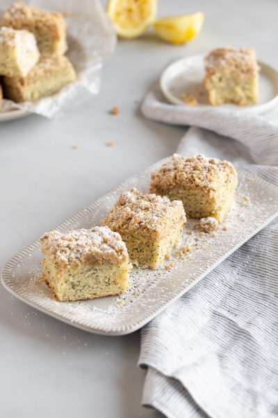 Lemon Poppyseed Crumb Cake