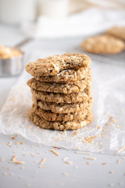 Coconut White Chocolate Oatmeal Cookies